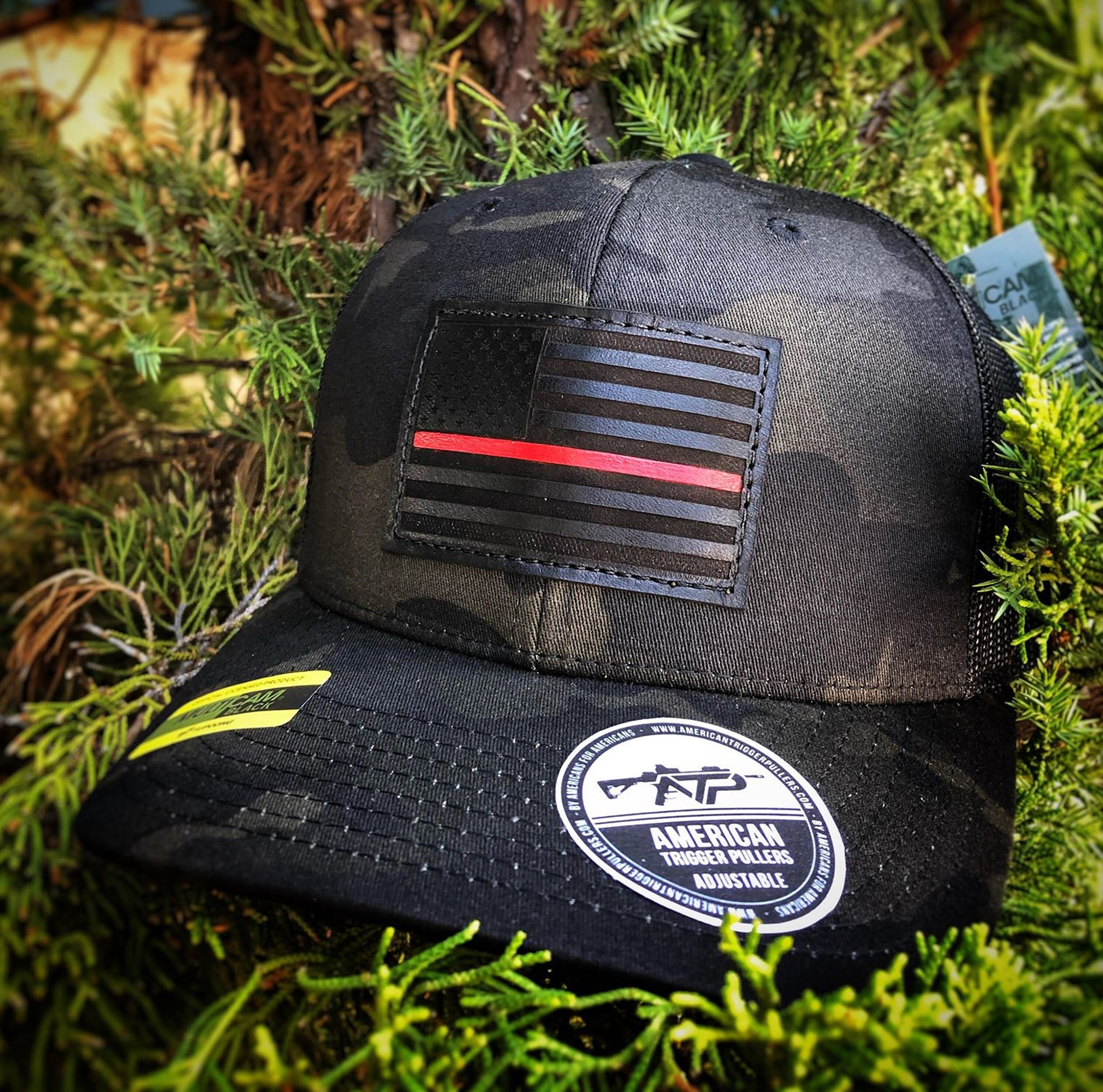 Fire Fighters Black Out Leather Snap Back