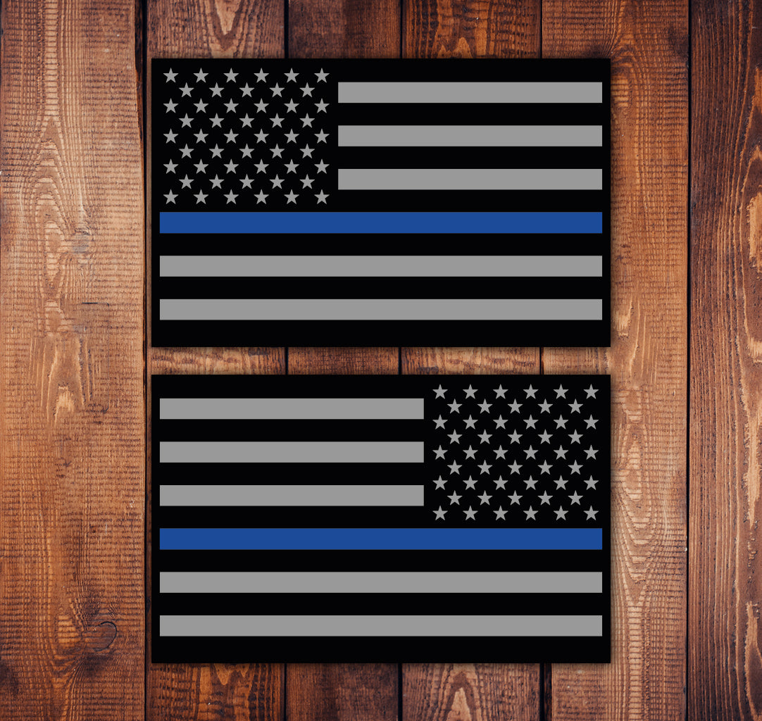 Blue Line Flag Sticker Set