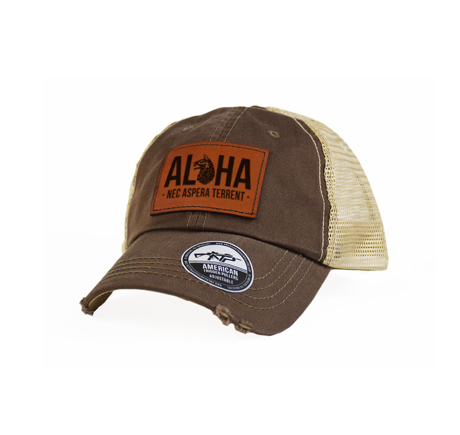 Aloha Wolfhounds Leather Dad Cap