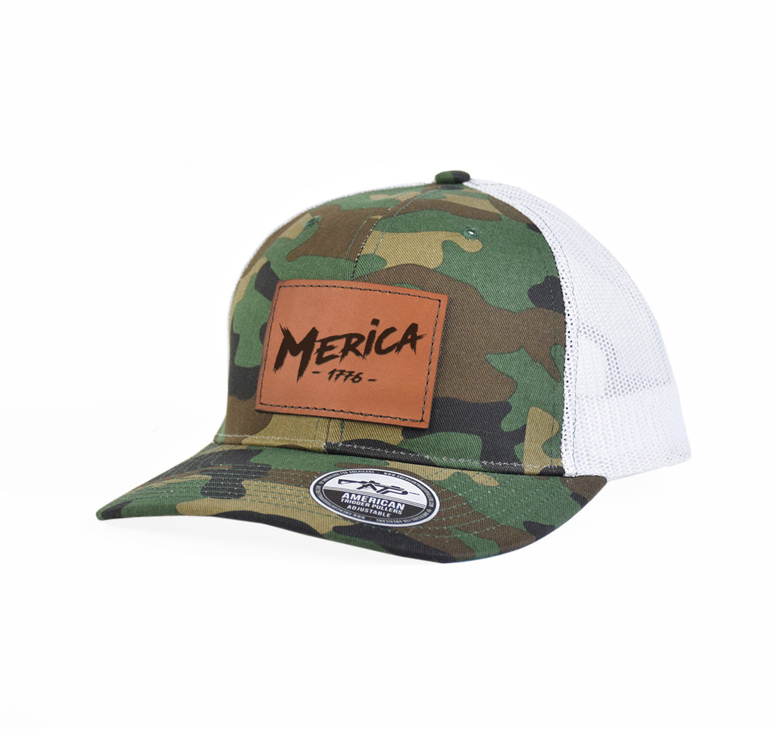 Merica' 1776 Leather Snap-Back