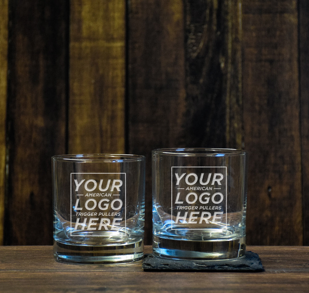 Custom Low Ball Glass Set