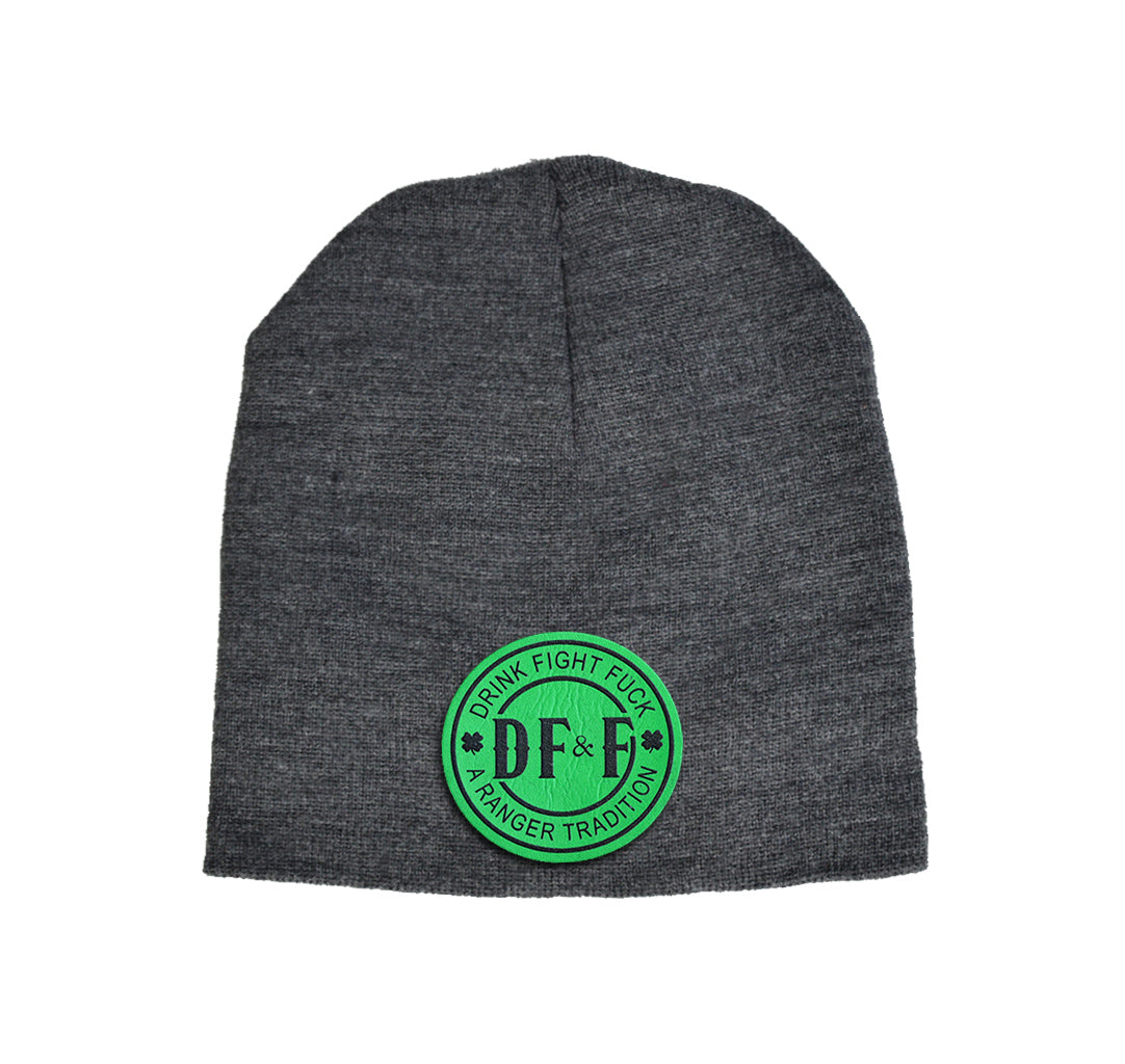 DF&F Green Leather Beanie