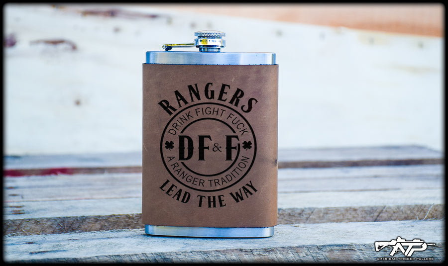 DF&F Leather Flask
