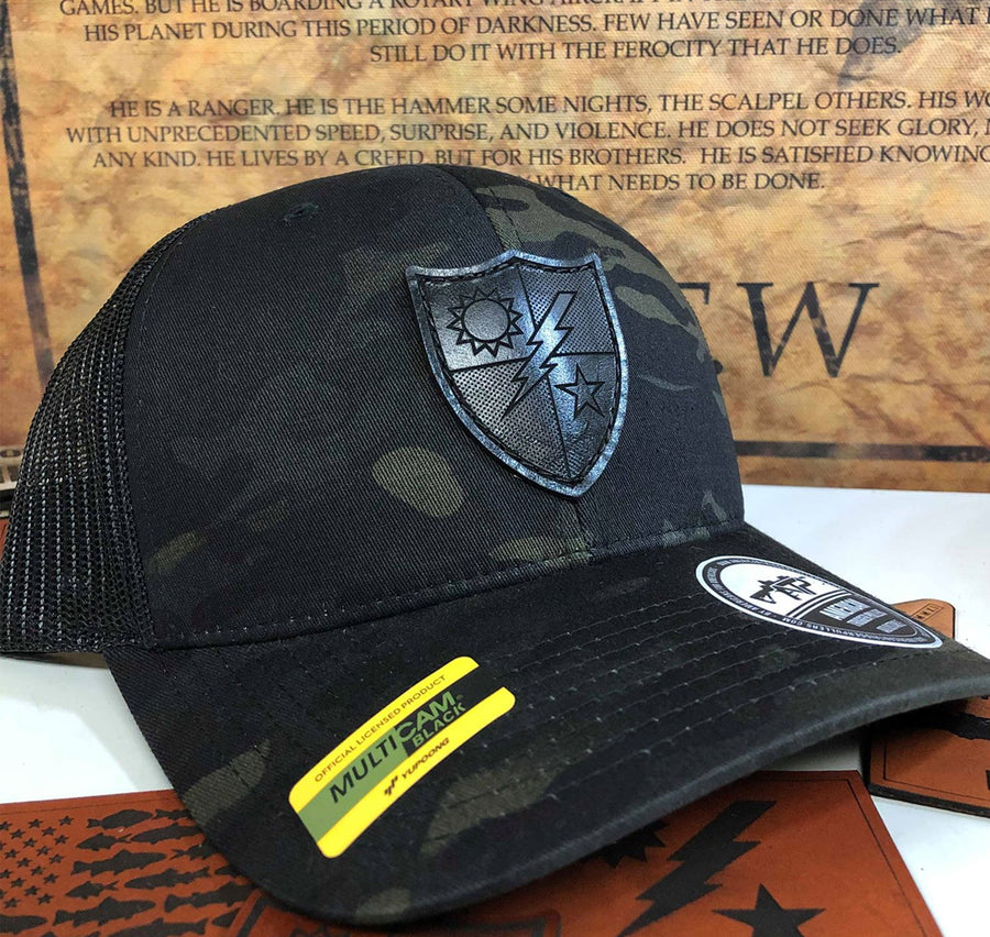 75th DUI Black Leather Snap-Back