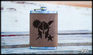 DUI Spartan Leather Flask