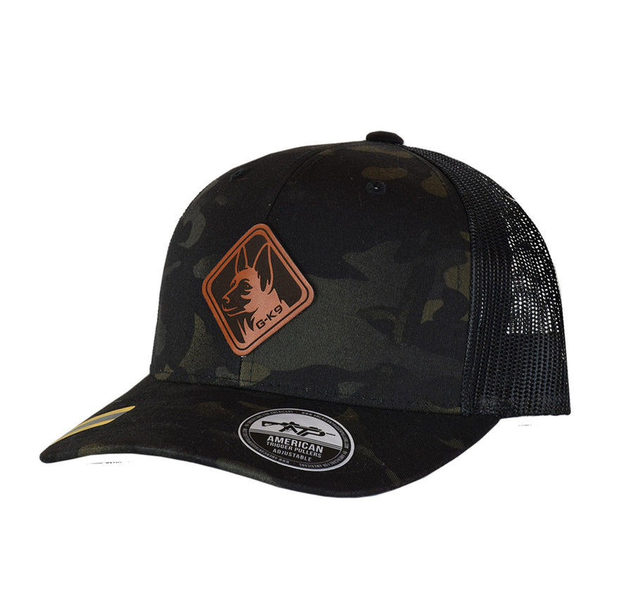 GK-9 Diamond Leather Patch Snap Back