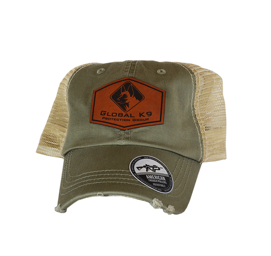 Global K-9 Hexagon Leather Dad Cap