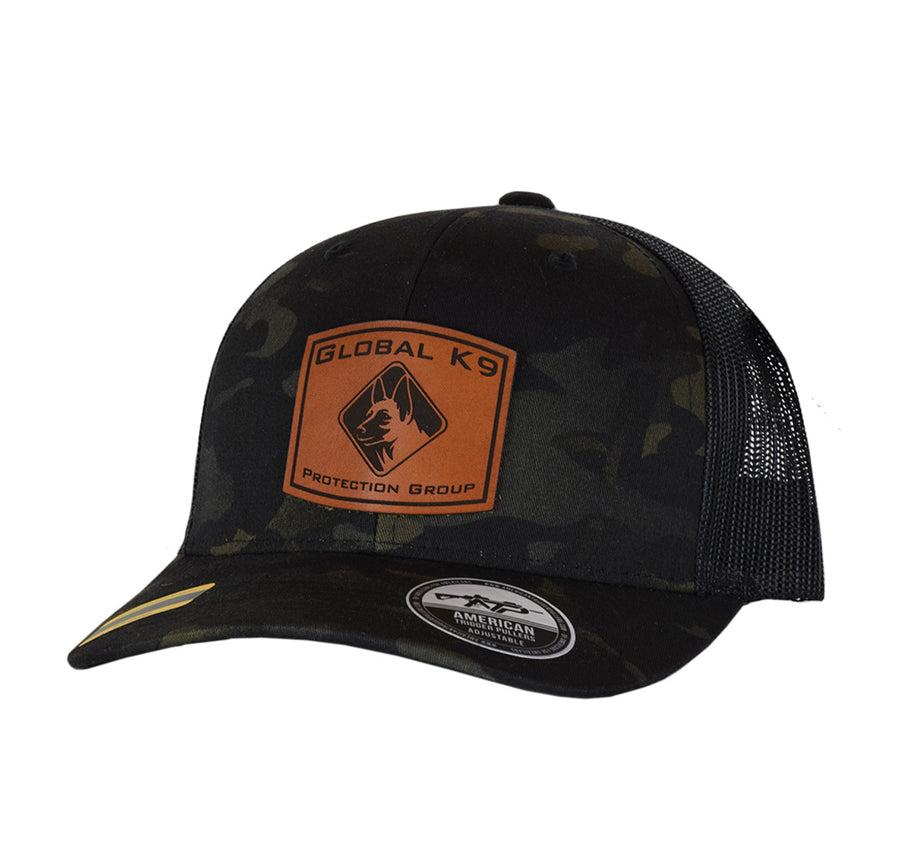 GK-9 Square Leather Patch Snap Back
