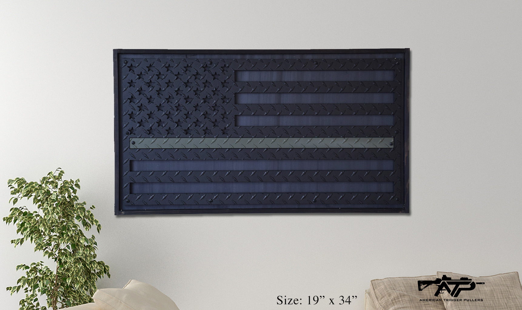 Green Line Steel Flag
