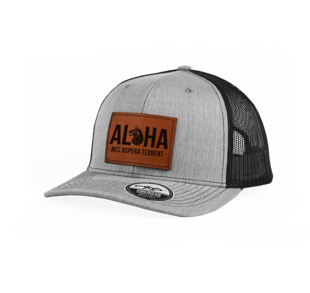 Aloha Wolfhounds Leather Snap-Back