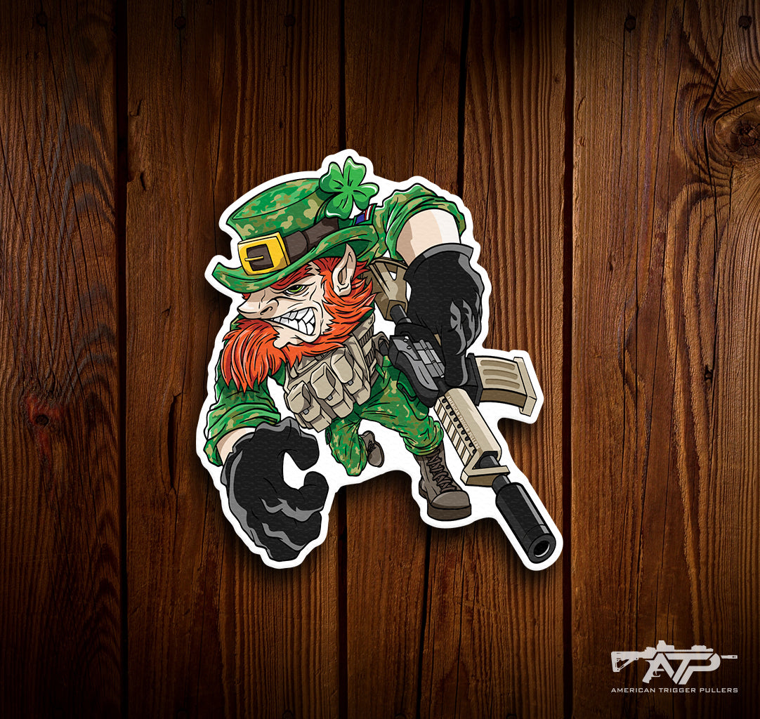 Gunfighter Leprechaun Sticker