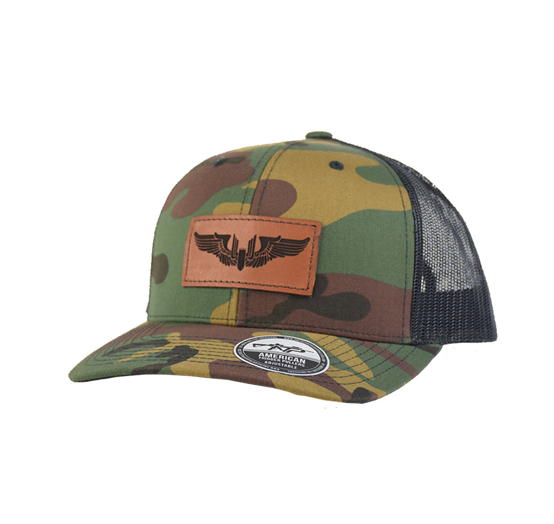 Gunner Wings Leather SnapBack