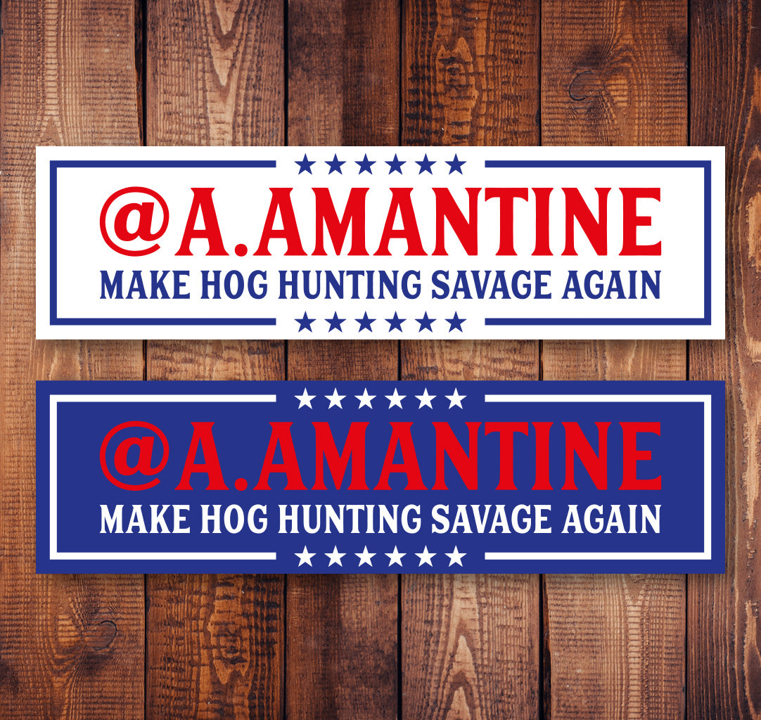 Hog Hunting Bumper Sticker