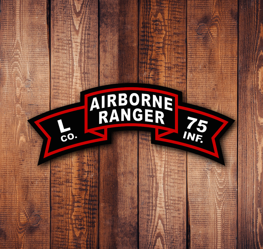 Airborne Ranger Old Scroll Sticker