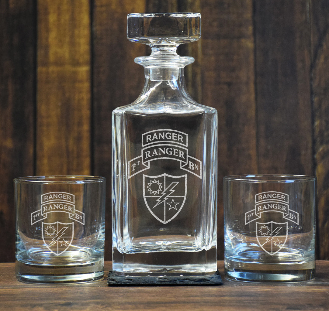 Custom Low Ball Decanter Set