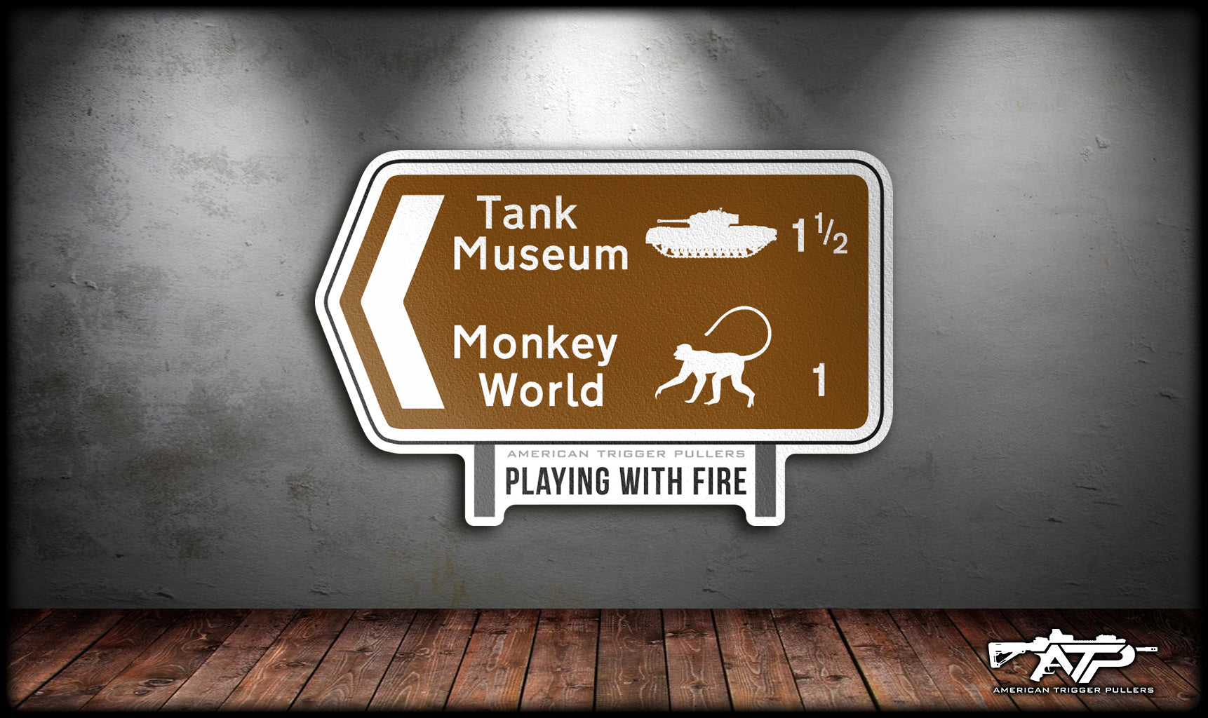 Monkey World Sticker