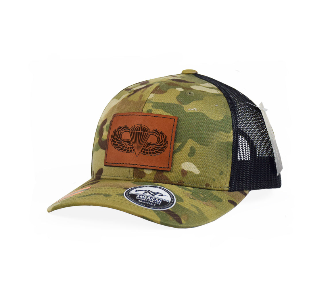 Airborne Wings Leather Snap-Back