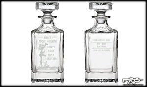 Never Above Whiskey Decanter
