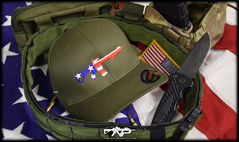 Rifle Flag Flexfit Cap