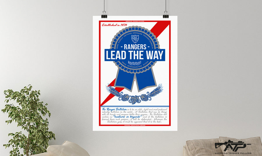 Pabst Ribbon Ranger Canvas