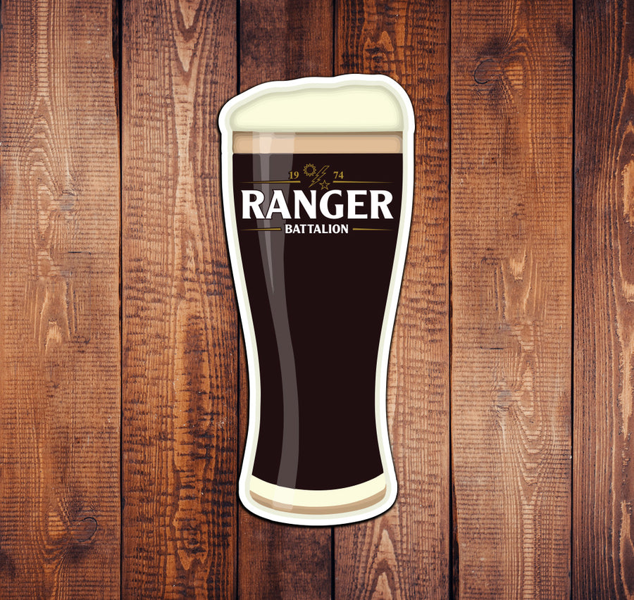 Ranger Batt Guinness Pint Sticker