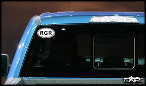 RGR Oval Sticker