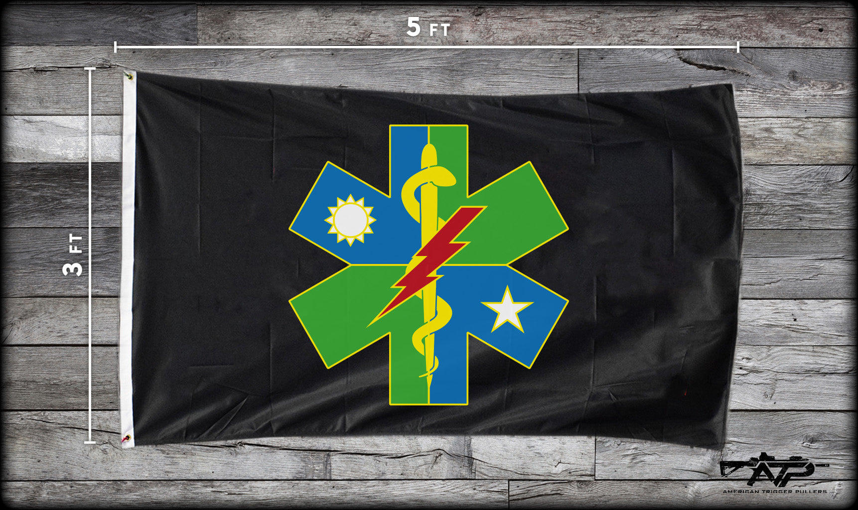 75th Ranger Medic DUI Flag