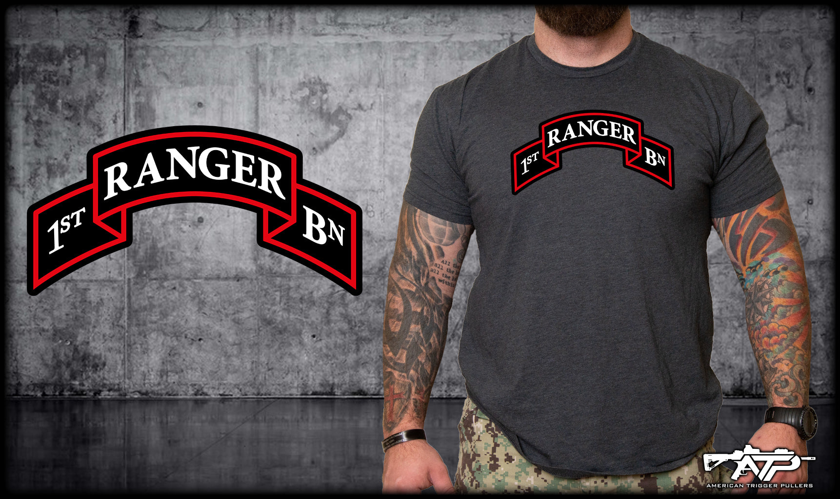 Charcoal Ranger Scroll Shirts