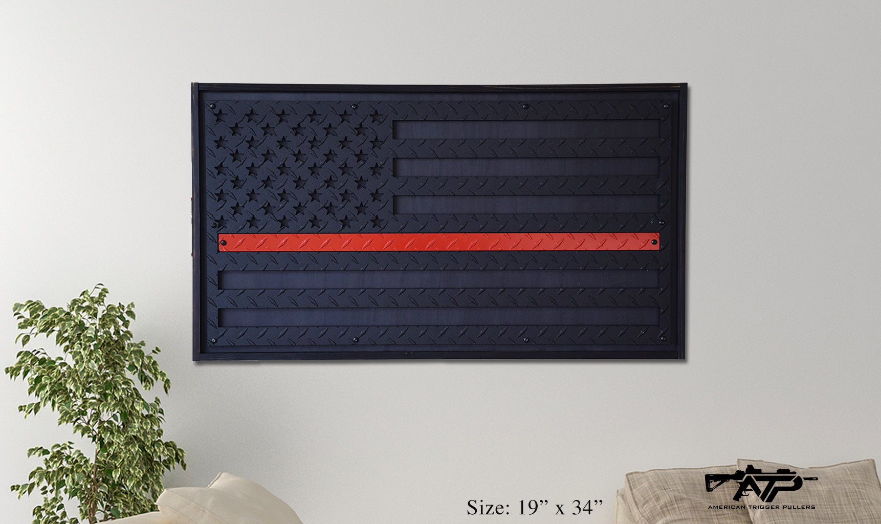 Red Line Steel Flag