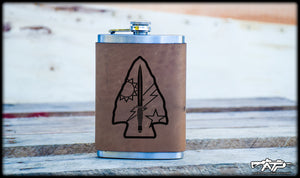 Spearhead Leather Flask