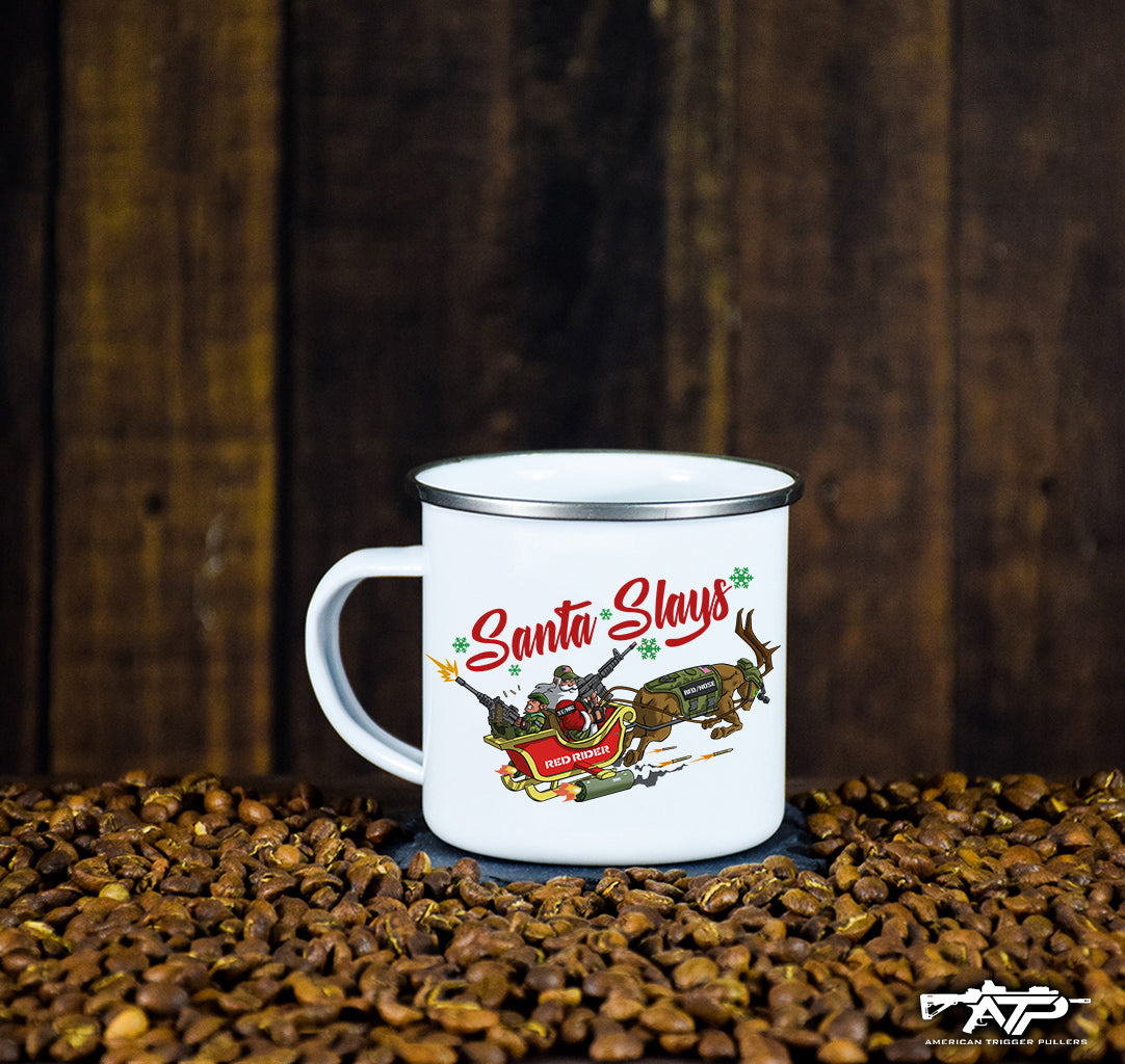 Santa Slays Christmas Mug