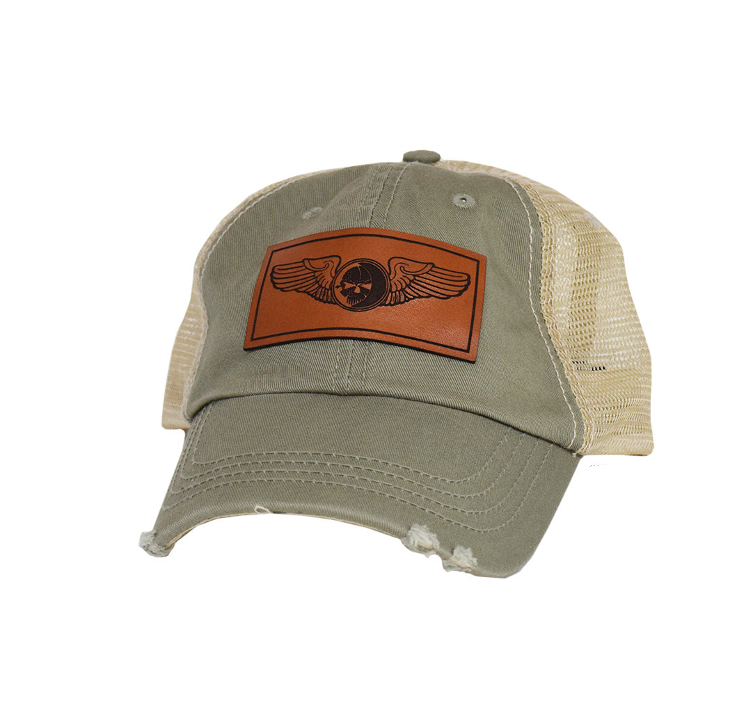 Sensor Wings Leather Dad Cap