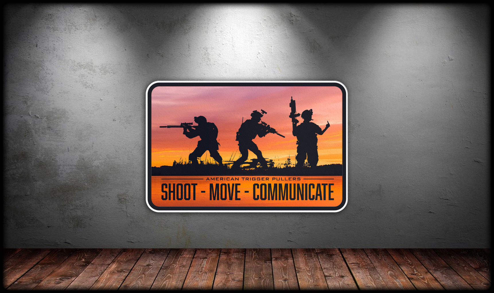 Shoot Move Communicate Sticker