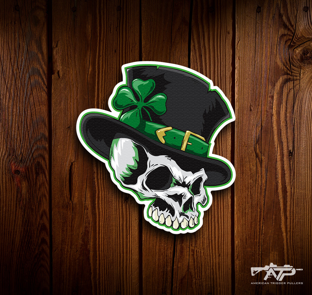 Leprechaun Skull Sticker