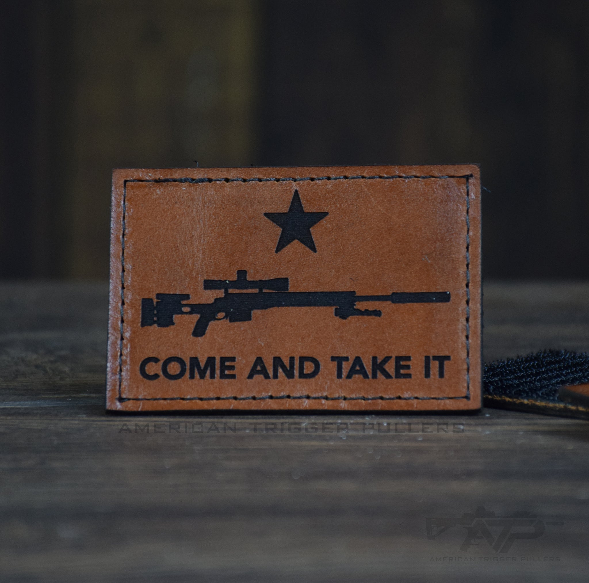 Sniper Come And Take It Leather Patch