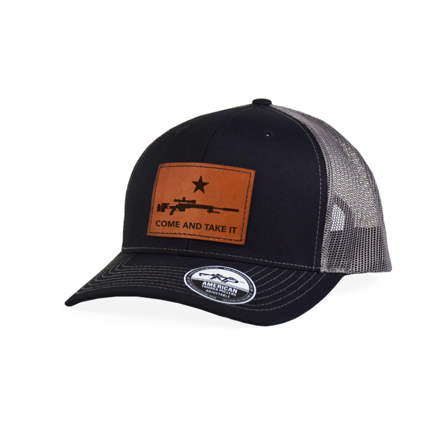 Come and Take It Sniper Leather Snap-Back