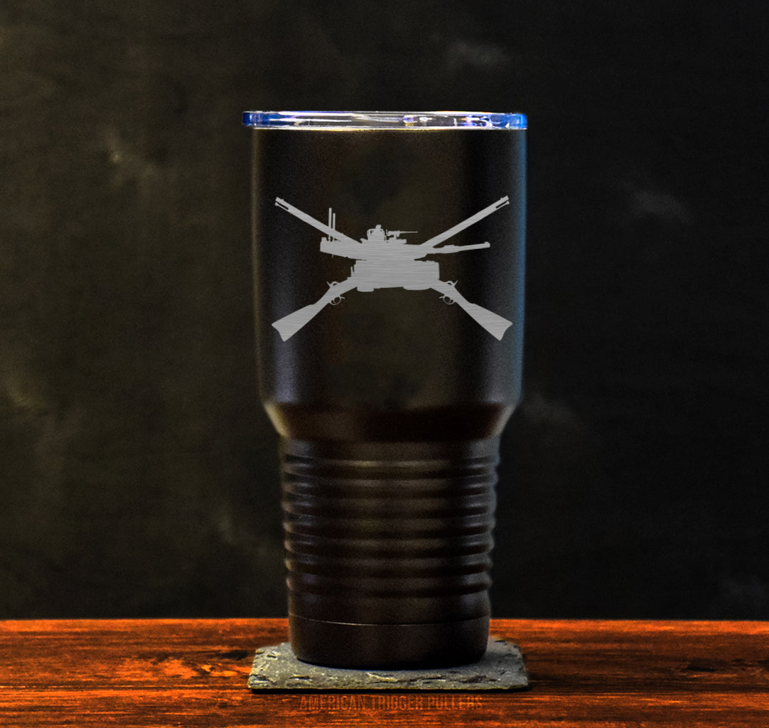 Tank Crossed Rifles Tumbler