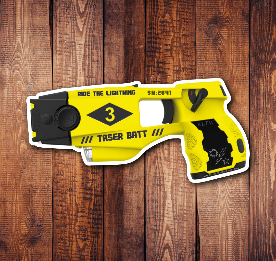 Taser Batt Sticker