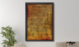 The Ranger Creed Canvas