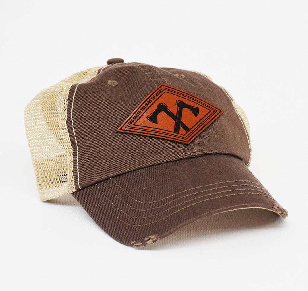 Two Bravo Leather Dad Cap