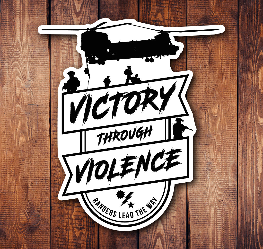 Victory Through Violence Sticker