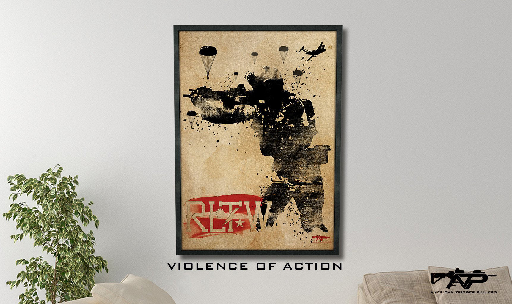 Violence of Action Canvas