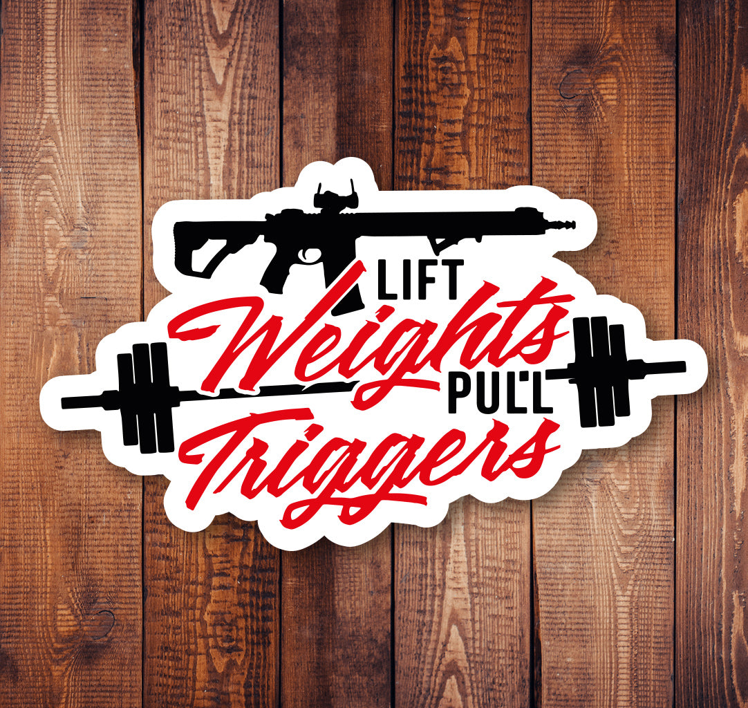Weights & Triggers Sticker