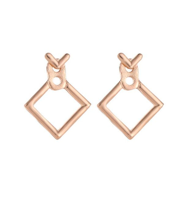 Square Gold Earrings