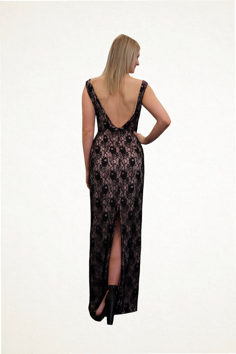 Audrey Lace Evening Dress