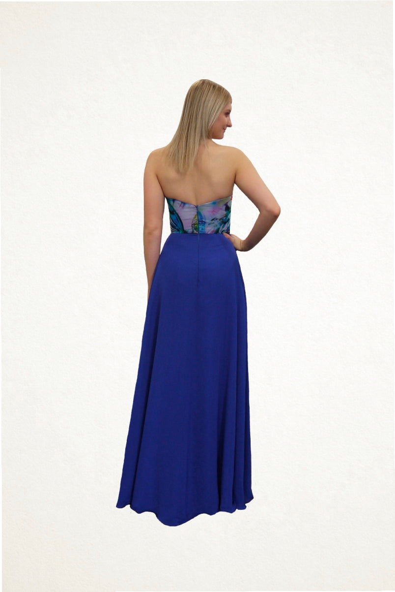 Aria Chiffon Print Evening Dress