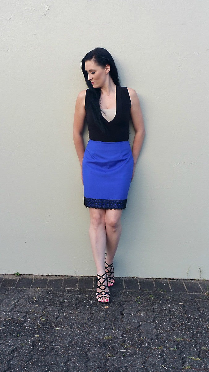 Cayley Royal Blue Short Skirt