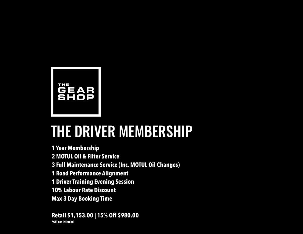 The Gear Shop MECHANICAL Membership Program