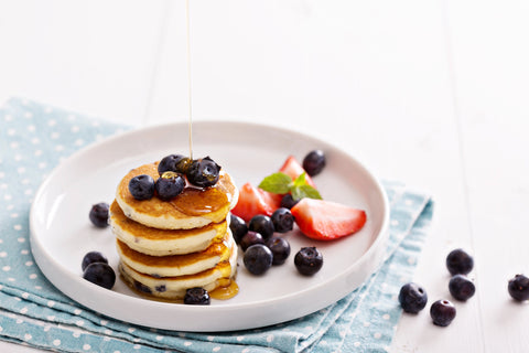 Blueberry Pancakes with maple yoghurt