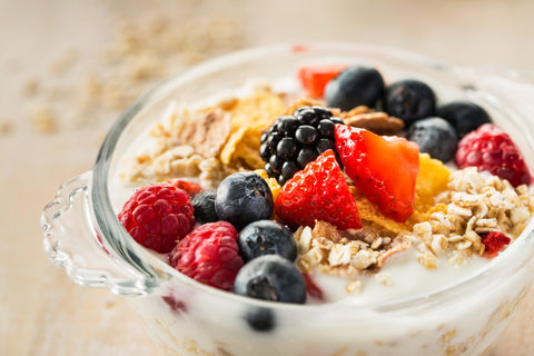 oatmeal milk fruits
